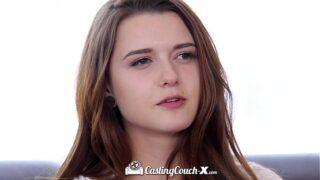 CastingCouch-X cute teen Alex Mae innocent blowjob POV