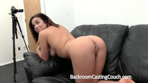 BackroomCastingCouch Beautiful waitress need extra income in porn career
